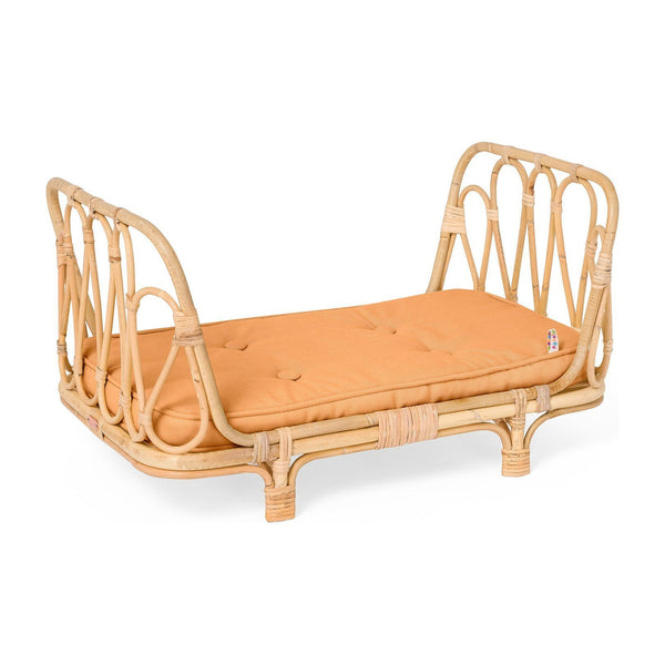 Poppie Rattan Doll Daybed, Clay