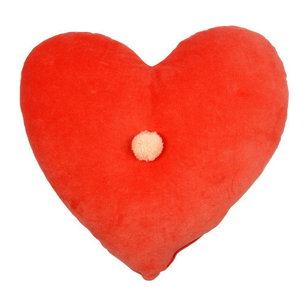 Coral Heart Velvet Pillow
