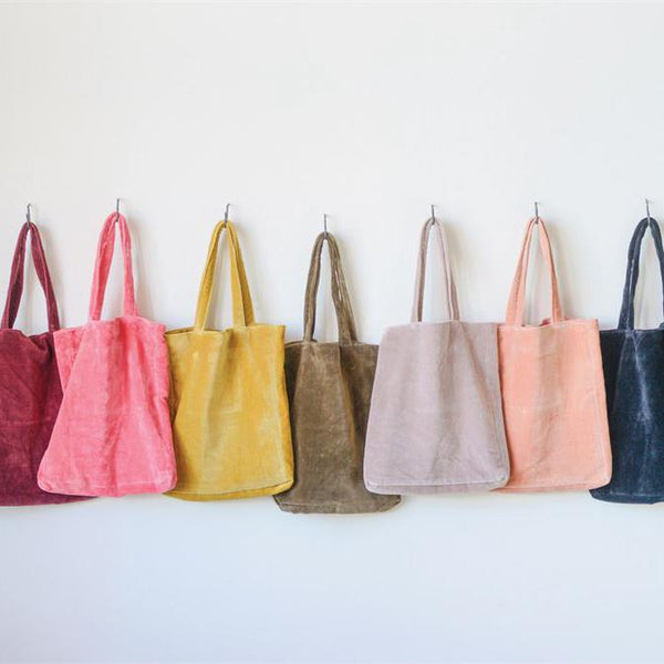 Cotton Velvet Jewel Tote Bag