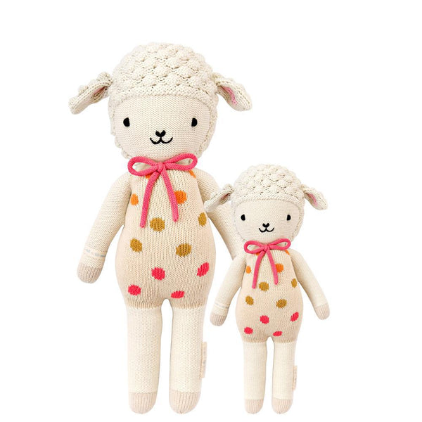 Lucy the Lamb Hand-Knit Doll