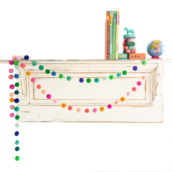 Custom Felt Ball Garland - Choose Your Colors! available at Shop Sweet Lulu