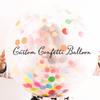Custom Jumbo Confetti Balloon available at Shop Sweet Lulu