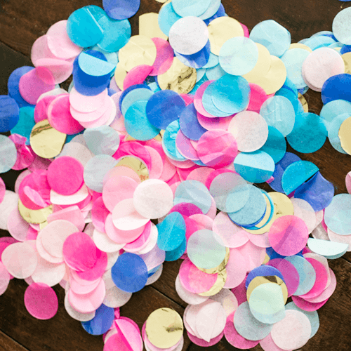 Custom Tissue Paper Confetti available at Shop Sweet Lulu