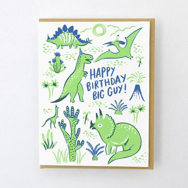 Dino Party Birthday Card