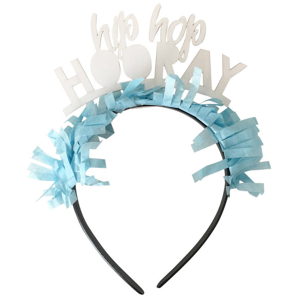 Hip Hop Hooray Headband in Light Blue available at Shop Sweet Lulu