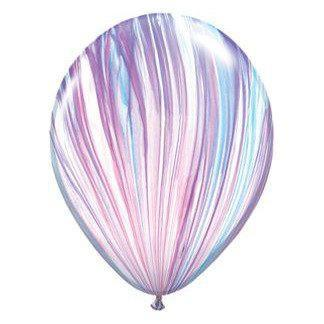 "11"" Latex Balloon, Purple/Blue Marble available at Shop Sweet Lulu"
