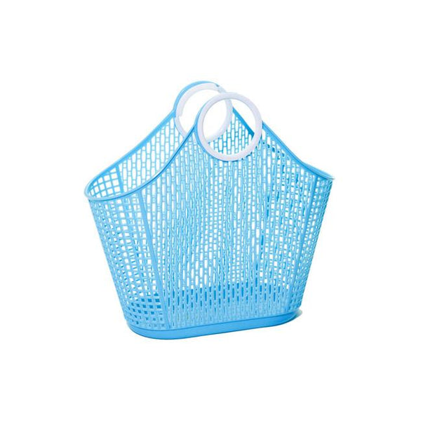 Fiesta Shopper Jelly Bag - Small Blue
