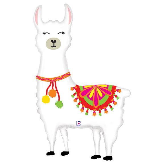 "45"" Llama Shaped Foil Balloon"