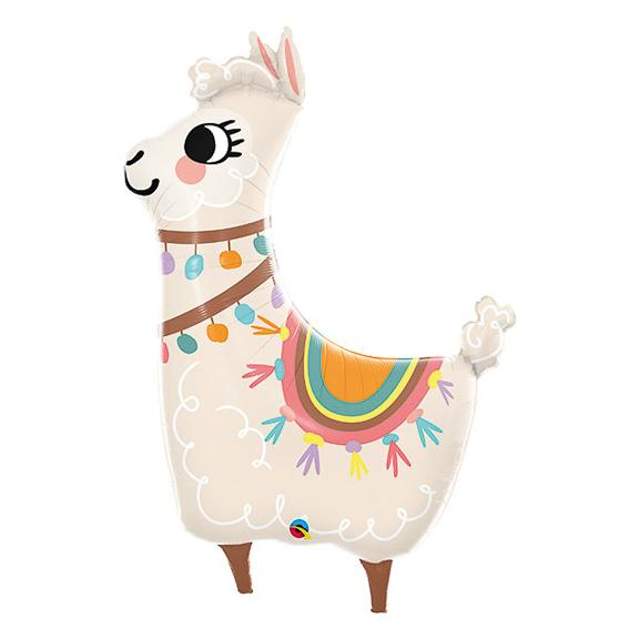 "45"" Loveable Llama Shaped Foil Balloon"