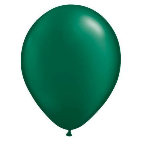 "11"" Latex Balloon, Forest Green Pearl"