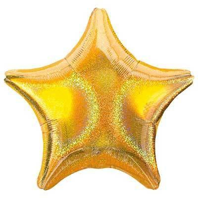 "19"" Gold Dazzler Foil Star Balloon available at Shop Sweet Lulu"
