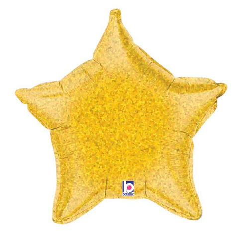 "19"" Gold Dazzler Foil Star Balloon"