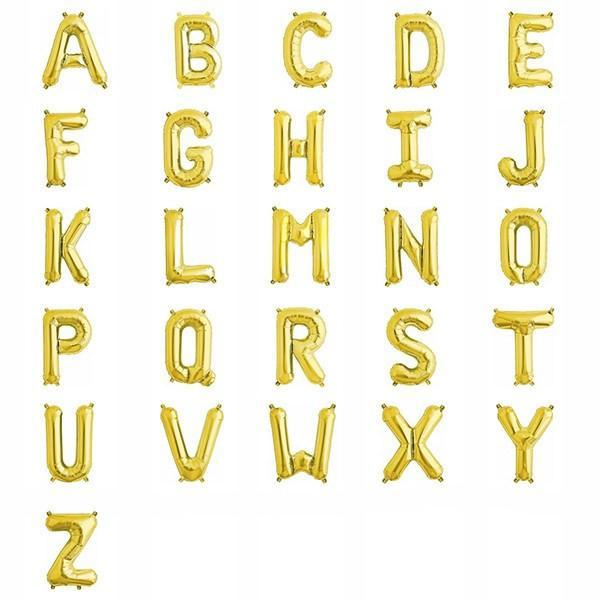 "13.5"" Gold Foil Letter Balloon available at Shop Sweet Lulu"