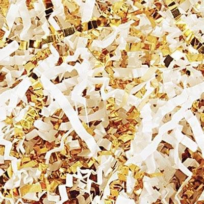 White & Gold Crinkle Shreds