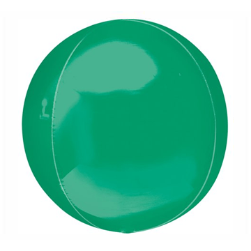"16"" Green Mylar Balloon Orbz"