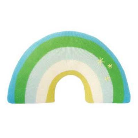 Rainbow Pillow Green