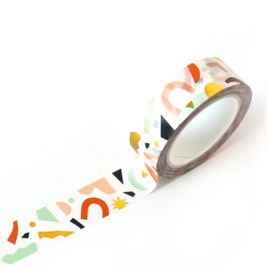 Confetti Pattern Washi Tape - Color + Gold Foil