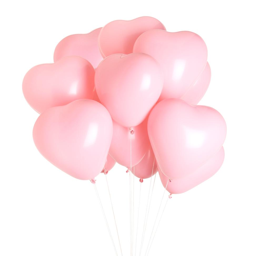 "11"" Pink Latex Heart Balloon Bundle available at Shop Sweet Lulu"