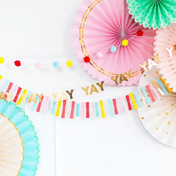 Hip Hip Hooray 'Yay' Mini Banner Set