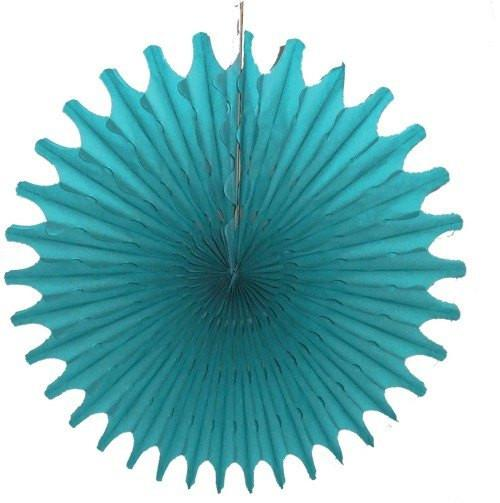"Teal 18"" Honeycomb Fan available at Shop Sweet Lulu"