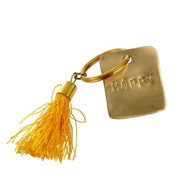 Happy Tassel Key Chain