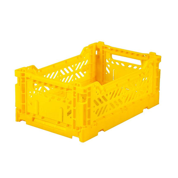 Small Folding Crate by Lillemor - Yellow