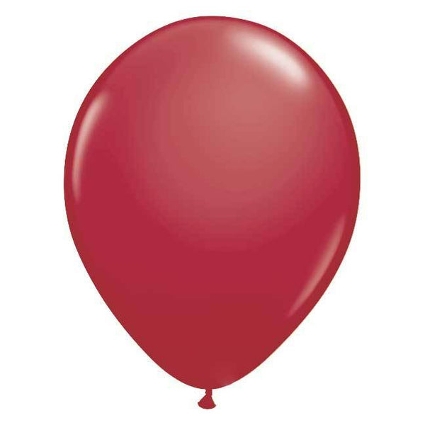 "11"" Latex Balloon, Maroon"