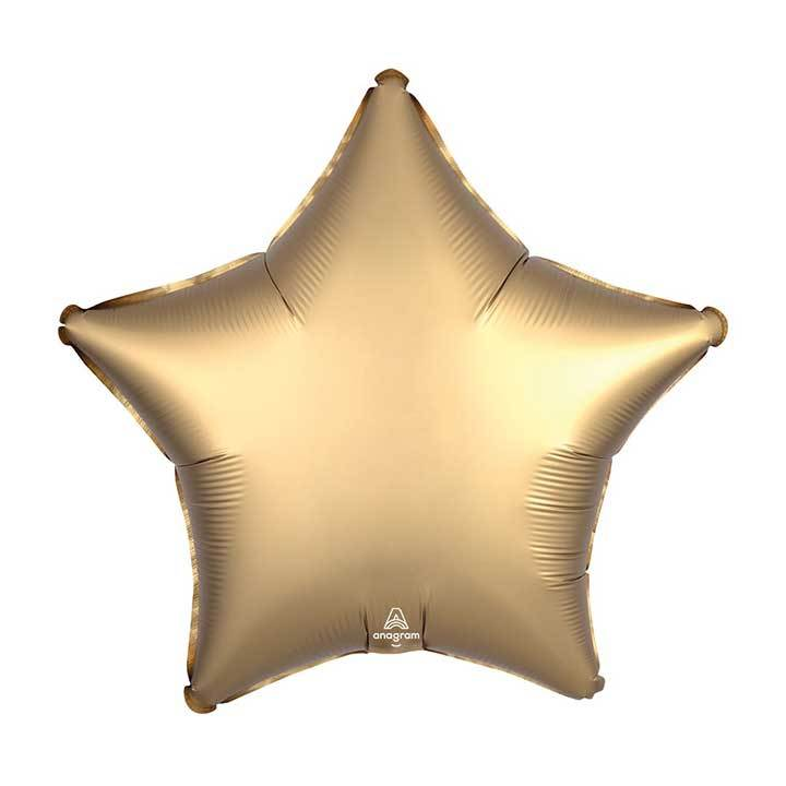 "19"" Satin Luxe Gold Sateen Foil Star Balloon available at Shop Sweet Lulu"