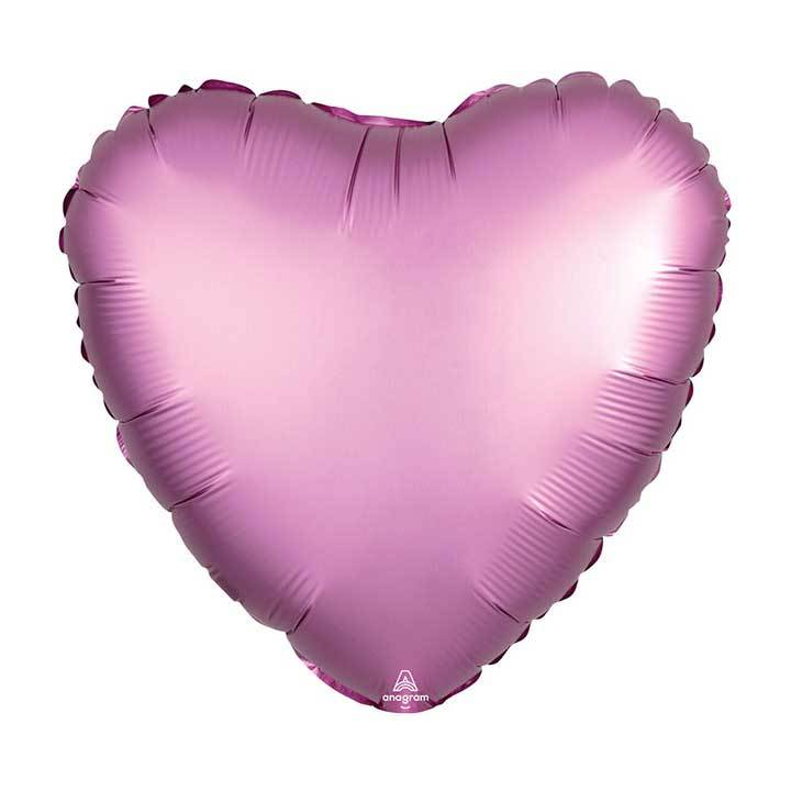 "17"" Satin Luxe Pink Foil Heart Balloon available at Shop Sweet Lulu"