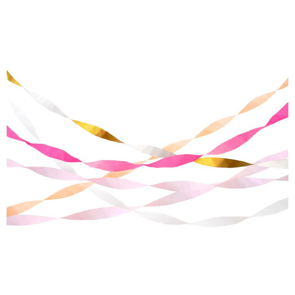 Pink Crepe Paper Streamers