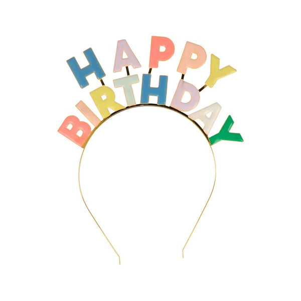 Enamel Birthday Headband