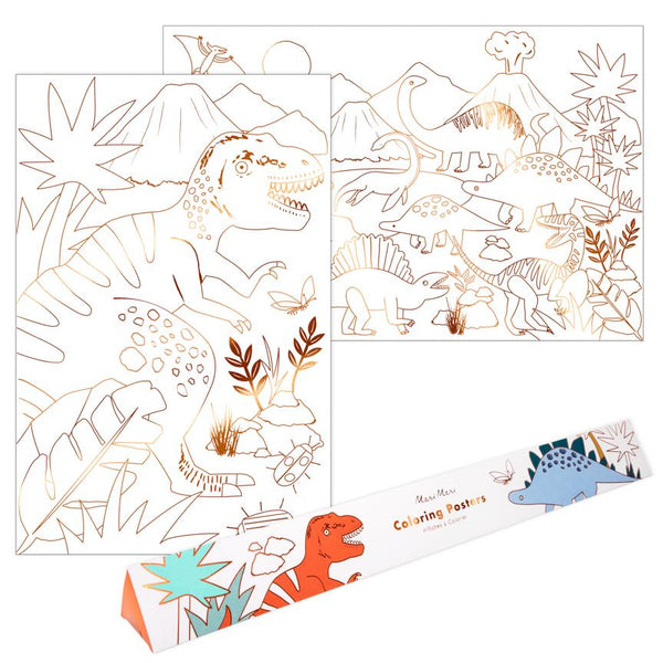 Dinosaur Kingdom Coloring Posters