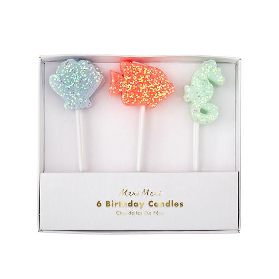 Sea Creature Glitter Candles