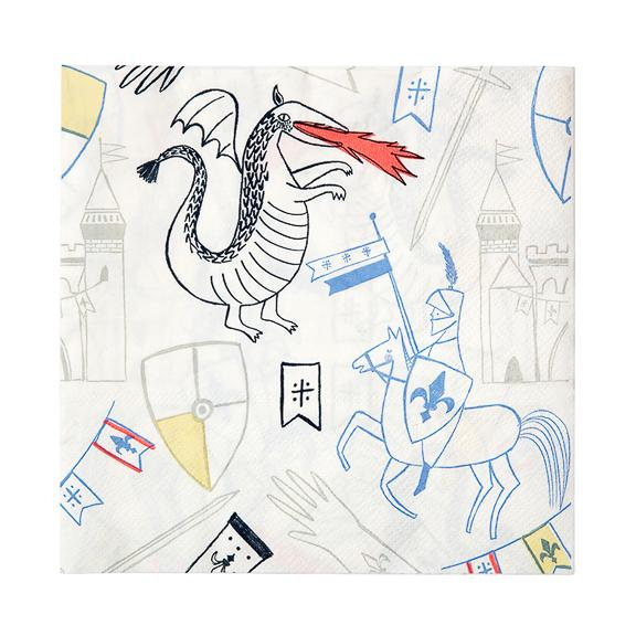Dragons & Knights Large Napkins