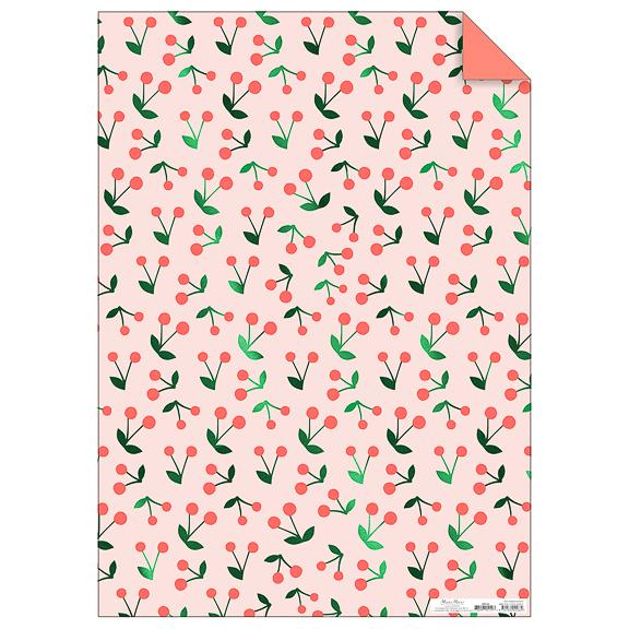 Cherry Sprig Gift Wrap Roll