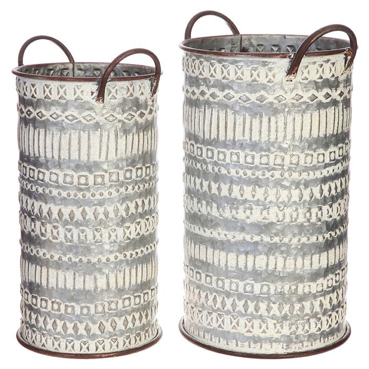 Stamped Metal Buckets