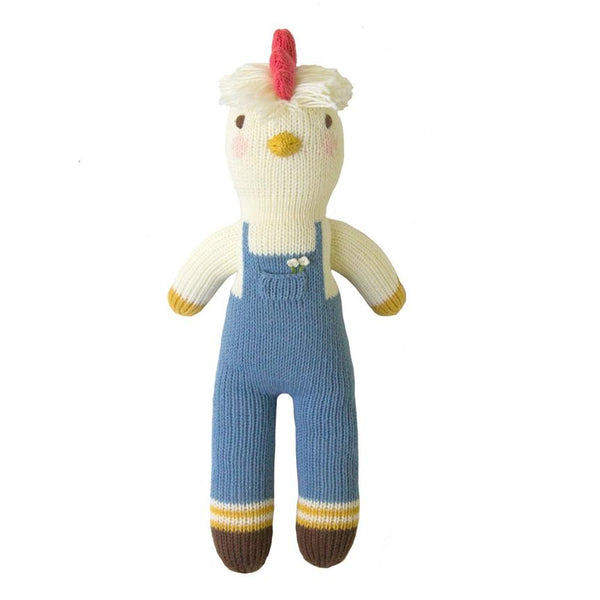 Benedict the Chicken Hand Knit Doll
