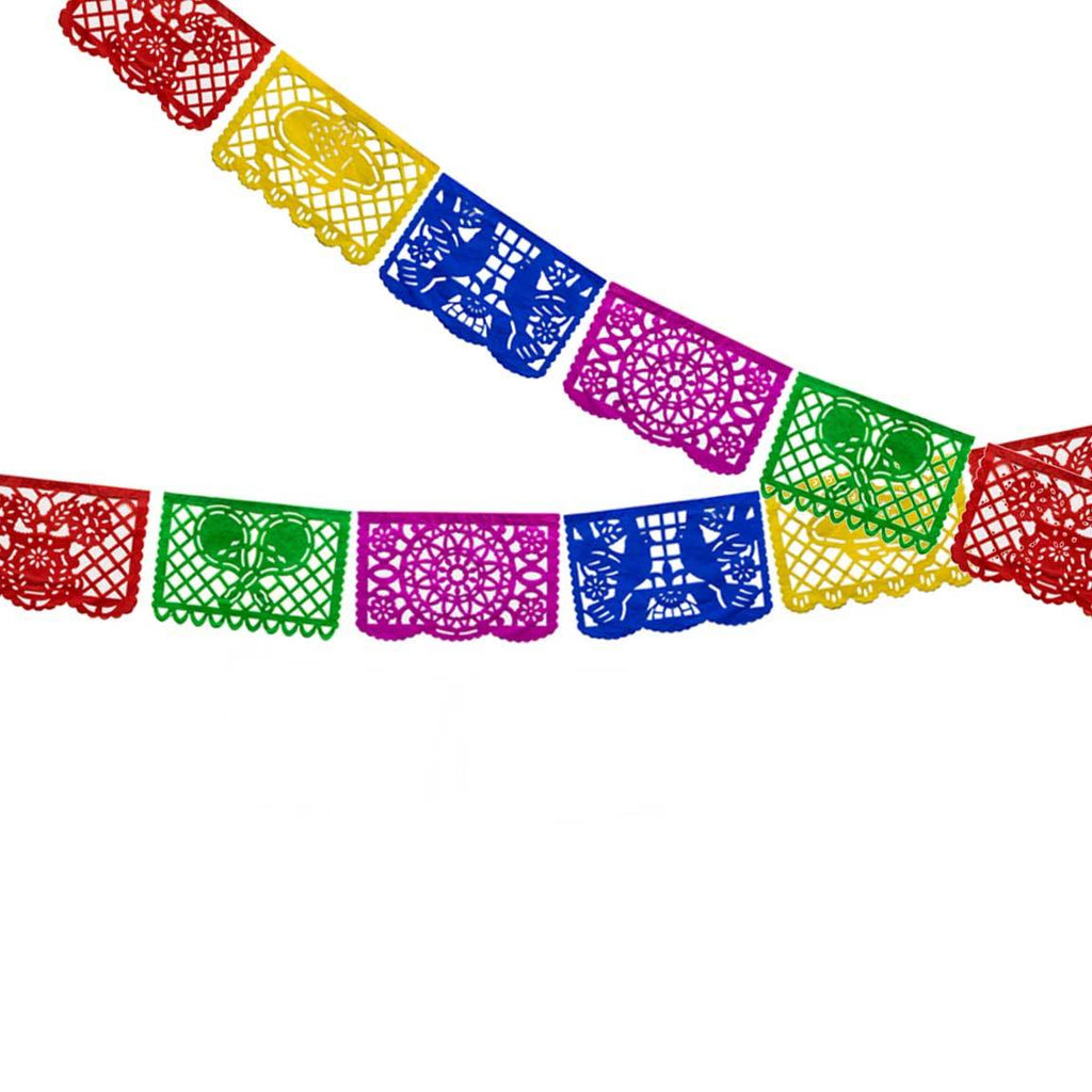 Mini Papel Picado Banner, Multicolor Tissue available at Shop Sweet Lulu