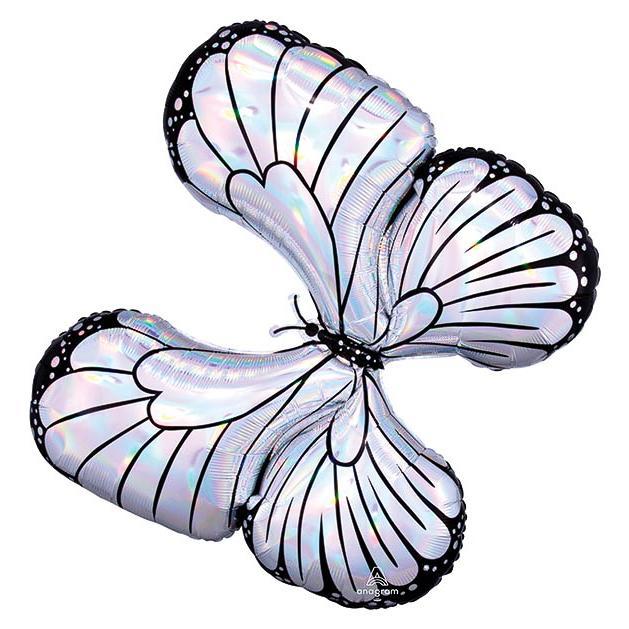 "30"" Iridescent Butterfly Shape Balloon"
