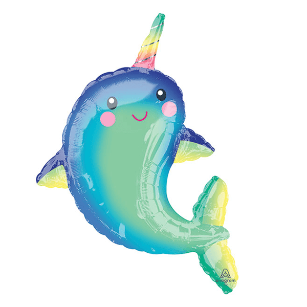 "39"" Happy Narwhal Foil Balloon"