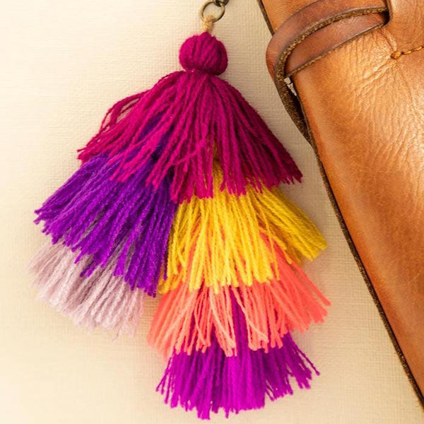 Purple Multi Mini Tassel Clip