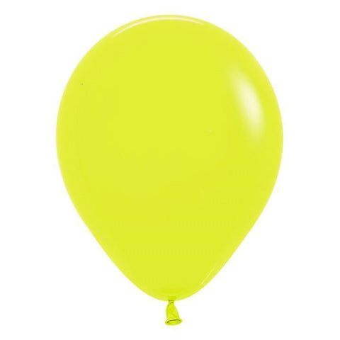 "11"" Latex Balloon, Neon Yellow"