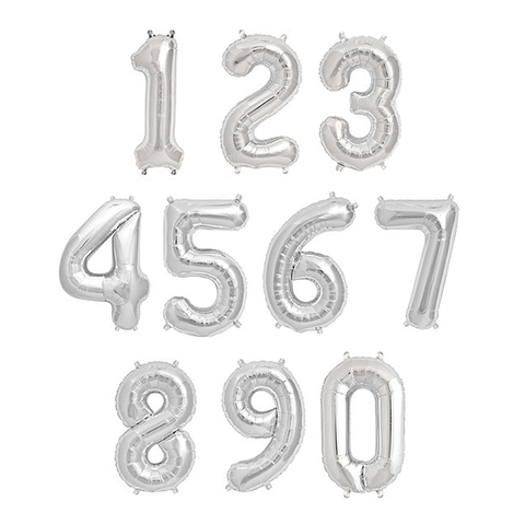 "13.5"" Silver Foil Balloon Number"