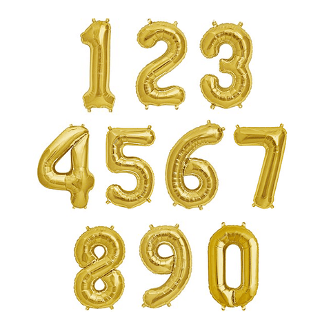 "13.5"" Gold Foil Balloon Number"