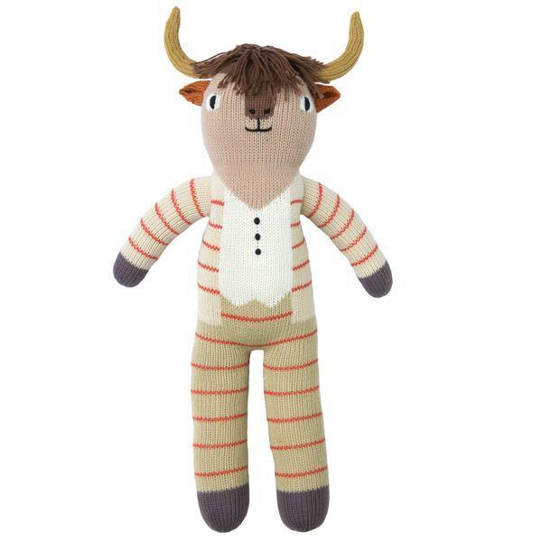 Pablo the Longhorn Hand Knit Doll