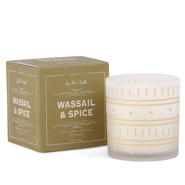 Gold Wassail & Spice Holiday Glass Candle