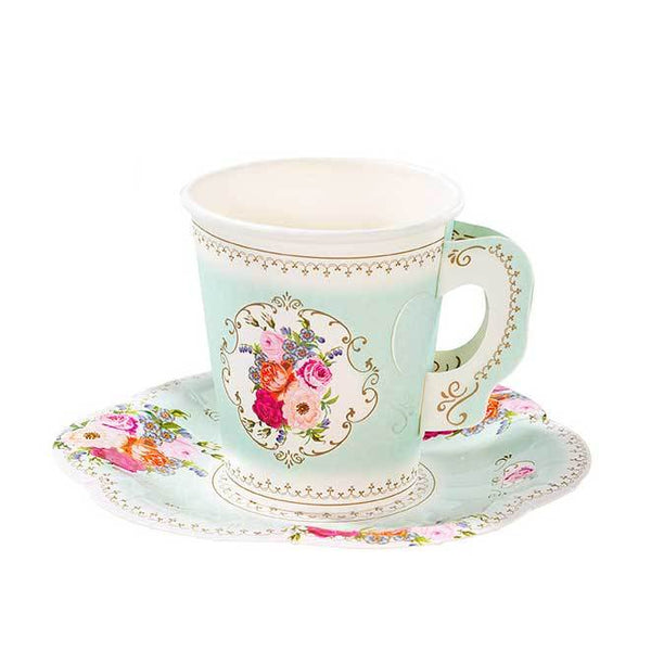 Paper Teacup & Saucer Set available at Shop Sweet Lulu