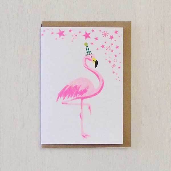 Flamingo Riso Pets Card