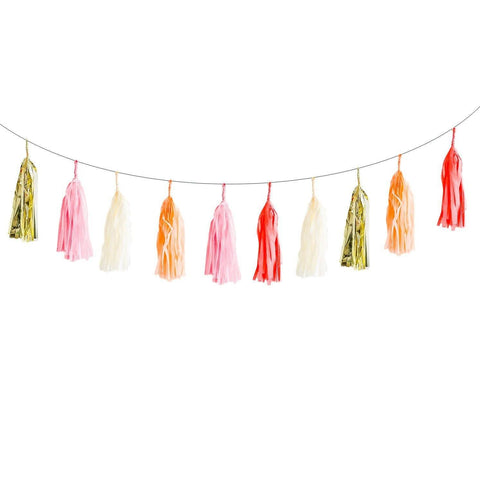 Just Peachy Tassel Garland