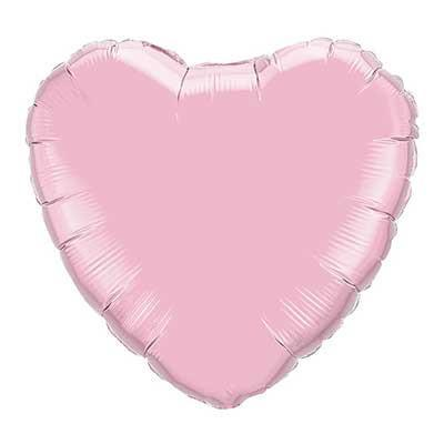 "18"" Pearl Pink Foil Heart Balloon"